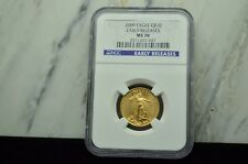 2009 $10 GOLD AMERICAN EAGLE 1/4 OZ NGC MS70 EARLY RELEASES -PERFECT COIN