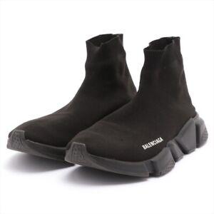 Balenciaga Speed Trainer Knit Sneakers 41 Men's Black