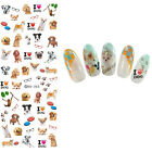 Nail Art Water Transfer Sticker Manicure Decor Decal Cute Dog Cat Theme