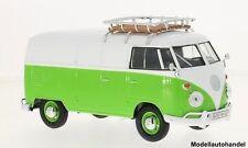 VW t1 verde chiaro/bianco Cassetta carrello con tetto trave bagagli - 1:24 Motormax