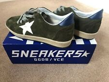 GOLDEN GOOSE DELUXE BRAND OLIVE/WHITE SIZE 42