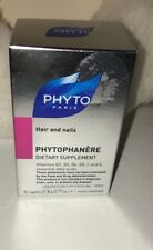 (x2)PHYTO Phytophanere Hair Nails Dietary Supplement 60 Caps each  BOXED