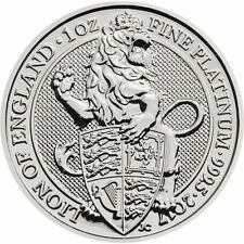 2017 1 oz British Platinum Queen's Beast Lion Coin (BU)