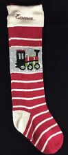 POTTERY BARN KIDS NATURAL FAIR ISLE CHRISTMAS STOCKING EMERSON NEW TRAIN RED
