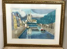 Framed Georges Lambert, Notre Dame Lithograph-Signed/Numbered In Pencil #3 Of 50