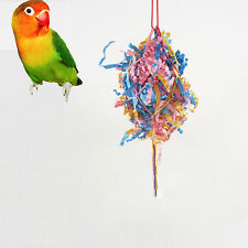 New Foraging Toys Bird Toy Parrot Cage Hanging Swing Cockatiel Budgie Parakeet