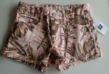 NWT Gap Kids Pink w/  leaf design Shortie Shorts Girl's Size 5