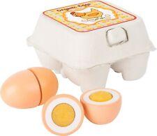 Holzeier im Eierkarton 4 Eier