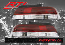 97-01 Honda Prelude BB Rear Tail Lights SH S Red Clear DOHC H22 H23