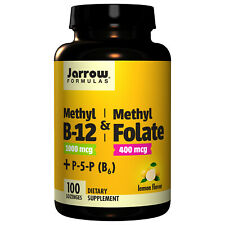 B12 and Methyl Folate By Jarrow - 100 Lozenges