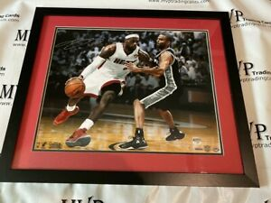 UDA & Fanatics Authentic LeBron James Autograph 16x20 Miami Heat Photo #'d /25