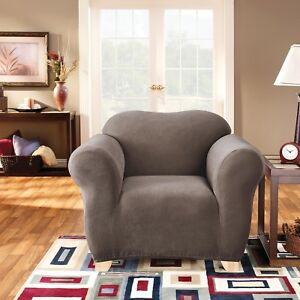 Taupe - 1 Seater Surefit Stretch Pearson Sofa Couch Cover - Machine Washable
