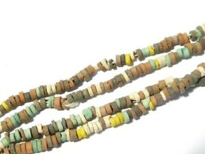 Ancient Egyptian Multi Coloured Faience Beads Necklace Restrung #CME3