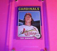 1975 Topps Mini #75 TED SIMMONS St Louis Cardinals HOF  NM-MT NmMt