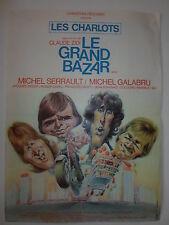 LE GRAND BAZAR affiche du film de CLAUDE ZIDI avec LES CHARLOTS COLUCHE SERRAULT