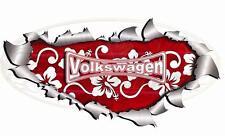 Large Single Red Metal Rip Open Volkswagen VW Transporter Sticker Car Truck Van