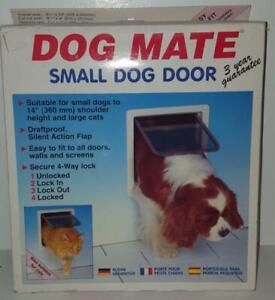Dog Mate Small Dog or Cat Pet Door Grey Silent Action Lockable DraftProof