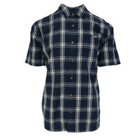 Vans Off The Wall Men's Dress Blue Stafford S/S Woven Shirt (Retail $44.50)