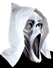 Ghost Mask With Glow In Dark Eyes & Teeth Halloween Fancy Dress With Hood