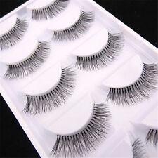 Women Natural Sparse Cross Eye Lashes Extension Makeup False Eyelash 5 Pairs Set