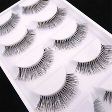 5 Pairs Women's Natural Sparse Cross Eye Lashes Extension Makeup False Eyelashes