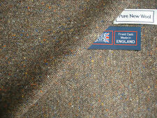 100% PURE NEW WOOL DONEGAL TWEED FABRIC – MADE IN HUDDERSFIELD ENGLAND - 2.29 m.
