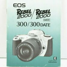 Canon EOS Rebel 2000 / 300 w/ (Date) Camera Instruction Manual English GC (449)