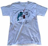 Vintage Miami Dolphins Booster Club Japan Tour T-shirt 1991 L Single Stitch Rare