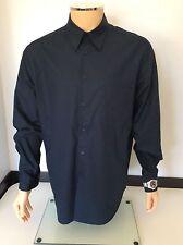 Moschino Men's Long Sleeve Shirt, Size XL Navy Blue, Watch Sleeve Vgc