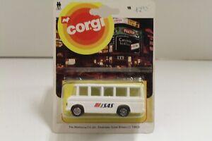 """Corgi Junior No: 15 """"Mercedes-Benz Bus"""" (SAS) White (Original 1983/UNOPENED)"""