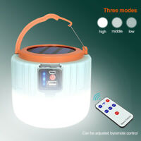 Solar Power Rechargeable LED Flashlight Camping Tent Lantern Lamp + USB Cable