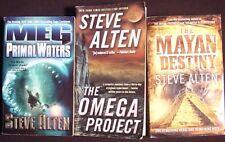 Steve Alten~Lot 3 PB~MEG:Primal Waters~Omega Project~Mayan Destiny~VGC