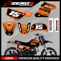 YAMAHA PW50 MOTOCROSS MX GRAPHICS DECAL KIT MUSCLE MILK BLACK / ORANGE