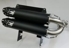 Empire Industries Negro Dual sin Cordones Sistema de Escape Tubo Can-Am Maverick