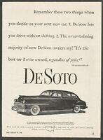 1948 DeSoto - 1948 Vintage Automotive Print Ad