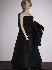 Custom Replica Engagement Gown, Stole, Necklace for FM Princess Diana Doll