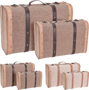 Koffer Truhe Koffer Dekokoffer Aufbewahrung Dekoration Vintage 2 Farben K050