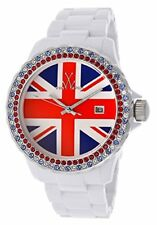 ToyWatch Unisex UK Flag Dial White Plastic Strap Quartz Watch TUJ04WH