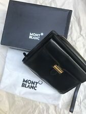 Montblanc Meisterstuck Authentic Clutch Bag Black Leather Gold Hardware
