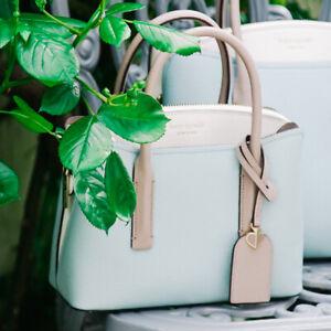 🌸 NWT Kate Spade Margaux Mini Satchel Leather Bag Cloud Mist Blue NEW $248