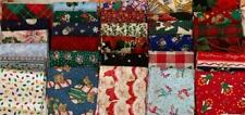 HUGE LOT CHRISTMAS FAT QUARTERS (25) - FREE SHIPPING! NO DUPLICATES