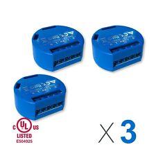 LOT of 3 SHELLY 1, Smart Home Device, 3-pack Relay Switch 16A, Wi-Fi, UL listed