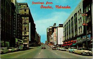 Postcard NE Omaha Nebraska STEETVIEW - VINTAGE POSTCARD COLOR PC