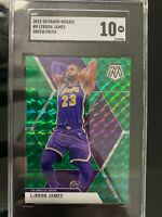 2019-20 Panini Mosaic Lebron James Green #8 GEM MINT SGC 10 Los Angeles Lakers