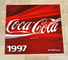 Belle ancienne Coca-Cola Calendrier 1997 USA Coke Calendrier