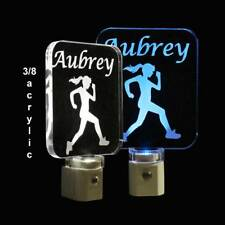 Personalized Woman Girl Runner LED Night Light - Handmade Sports Light