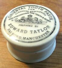 Oriental TOOTH PASTE Manchester England Teeth & Gums TRINKET BOX CERAMIC