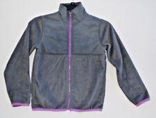 Old Navy Size 8 girl's fleece jacket gray & purple full zip