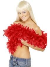 Boa Rosso Donna Deluxe Piume Lusso - Lunghezza 1,80 Mt, 80 gr Charleston nuovo