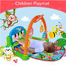 3-in-1 Baby Play Mat Fitness Gym Mat Floor Activity Music Piano Kick & Play Toy